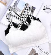 Girls underwear cross black and white straps