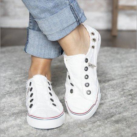 white   Women's Canvas Shoes