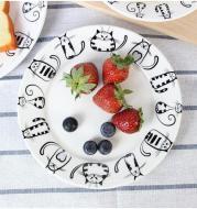 4pcs Cute Cat Plates
