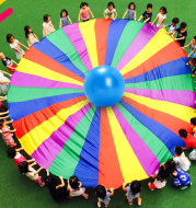 Kindergarten sports games for children early education and outdoor equipment and the rainbow umbrella