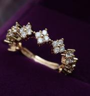 Fashion zircon ring