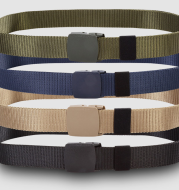 Factory direct supply anti allergy belt, canvas belt, woven canvas belt, outdoor leisure nylon belt wholesale