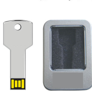 The supply of tin metal key U disk laser logo custom gift USB key flash memory bank