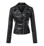 Leather coats Motorcycle Jacket Black Outerwear leather PU Jacket