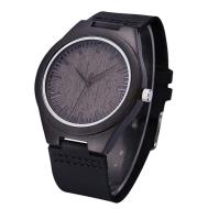 Natural original environmental protection bamboo and wood watch Ebony belt bamboo and wood watch