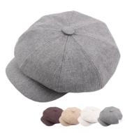 Autumn and winter cotton hat man octagonal cap Korean monochrome outdoor sunshade cap wholesale Beret lady painter