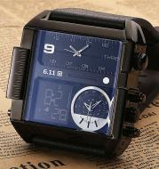 611 date 8145 countdown waterproof backlight luminous double display electronic watch
