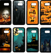 Halloween Pumpkins Hard Fabric PC Phone Cases Happy Cover for Samsung Galaxy A3 A5 A7 A8 2015 2020 2020 2020 note 8 5 3 2 Shell