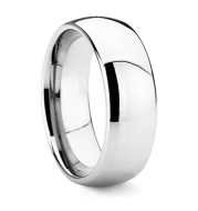 High Polish Tungsten Carbide Ring