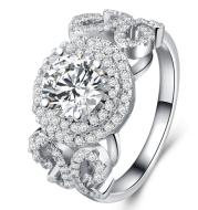 Stylish temperament zircon engagement ring