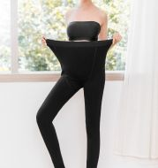 A Ladies Black foot mouth Maternity Pants one abdominal warm pants trousers simple nylon factory direct rendering