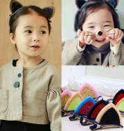 2pcs / lot girls Barrettes cute cat ears hair Clip kids safety headband hairpin for kids hair accessories
