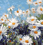 Painting by numbers - sunflower