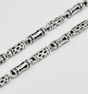 The 925 Silver men's Necklace clavicle thick long silver chain all-match fashion retro silver chain bare sweater chain