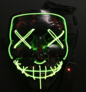 Halloween Cold Light Ghost Step Dance Clothes Glow Mask LED Flash Ghost Face Adult Fluorescent Dance Mask