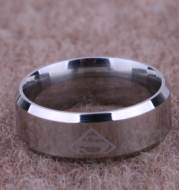 Fashion titanium steel superman ring 316L stainless steel S-shaped men's ring