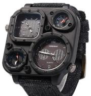 Military watch multi-time zone personality dial sports denim with quartz watch