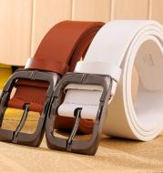 New Brand High Quality Men's Belts Luxury Brand Leather Belt Pin Buckle Black Business Pants Belt Belt Men's Belt