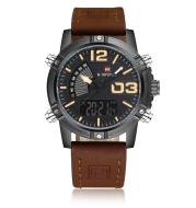 NAVIFORCE Men's Fashion Sport Watches Men Quartz Analog Date Clock Man Leather Military Waterproof Watch