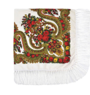 Russian large size fringed scarf autumn and winter warm national wind shawl female printed flower square scar