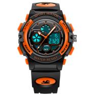 Kids Watch Sports Shock Cartoon Led Digital Wristwatch Alarm Clock Boys Girls Dual Display Wristwatches