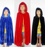 Halloween Cloak Christmas Costume COS Death Long Cloak Sorcerer Witch Prince Princess Cape Cloak