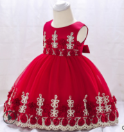 Infant dress girl decals baby wedding dress baby full moon puffy princess dress