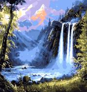 Malen nach Zahlen - Wasserfall