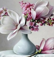 Painting by numbers - White flower