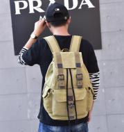 Influx street canvas backpack unisex backpack retro leisure travel bag large capacity bag