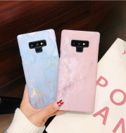 Luminous water paste marble pattern for Samsung S9 mobile phone shell all-inclusive S8Plus/Note8 hard shell XsMax/6s