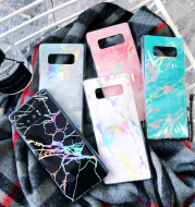 Applicable to Samsung S9 laser marble IMD soft shell all-inclusive S8Plus creative fashion mobile phone shell Note9