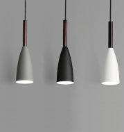 Nicolai, Nordic Inspired Pendant Light in Black, Blue, Green and White