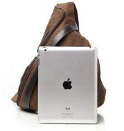 Triangle Korean retro wash canvas men's shoulder bag high school student bag diagonal package