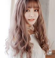 Corn hot long curly hair chemical fiber wig headgear