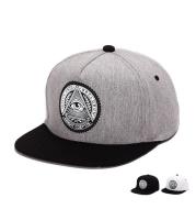 Cotton cloth flat along baseball cap Personality rubber round eye hip hop hat