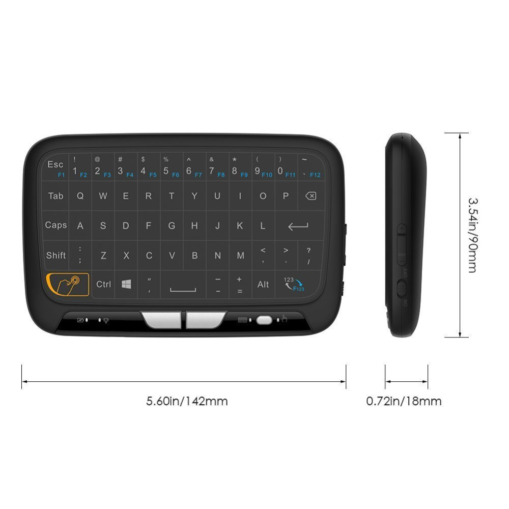 Mini H18 Wireless Keyboard 2.4GHz Air/Fly Mouse Remote Control Game Touchpad For Android TV Box