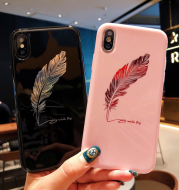 Feather glossy phone case