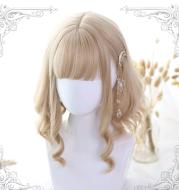 Lolita wig short hair Roman roll Lolita wig curly hair