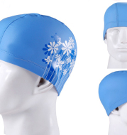 Unisex Swimming Cap, Waterproof PVC Swim Cap for Adults Printed with LOGO/Photo