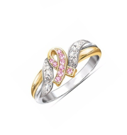 New Creative Ribbon Plated 18k Yellow Gold Diamond Rings Europe and America Explosion Women's Engagement Rings