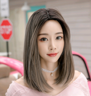 Wig in the long straight hair fashion realistic wig wig long straight hair