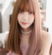 Multicolor wig female Qi Liu Hai Korean fashion wig chemical fiber wig wig