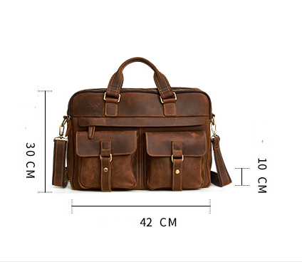 Genuine Cowhide Business Bag For Men 8