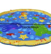 Inflatable spray pad