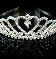 Princess crown hair pin bride wedding ornaments