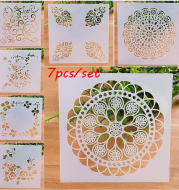 7 Pieces Stencils Set for Woodburning