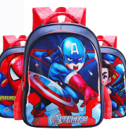 Children's school bag primary school male and female 1-3-6 grade US captain cartoon backpack burden reduction ridge wholesale