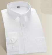 Shirt men's long sleeve youth business work casual dress dress business wear white slim shirt