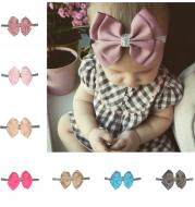 European and American popular children's headwear New double silver bag waist bow hair band